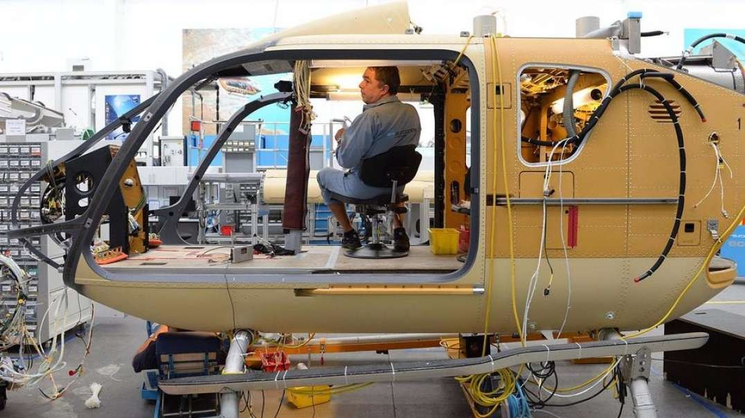 HELICOPTER PRODUCTION LINE 2021 – Assembly plant process (Manufacturing) FACTORY
